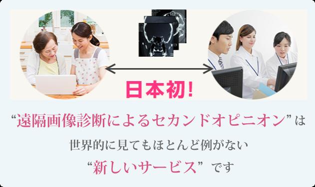 遠隔画像診断によるセカンドオピニオンは新しいサービスです
